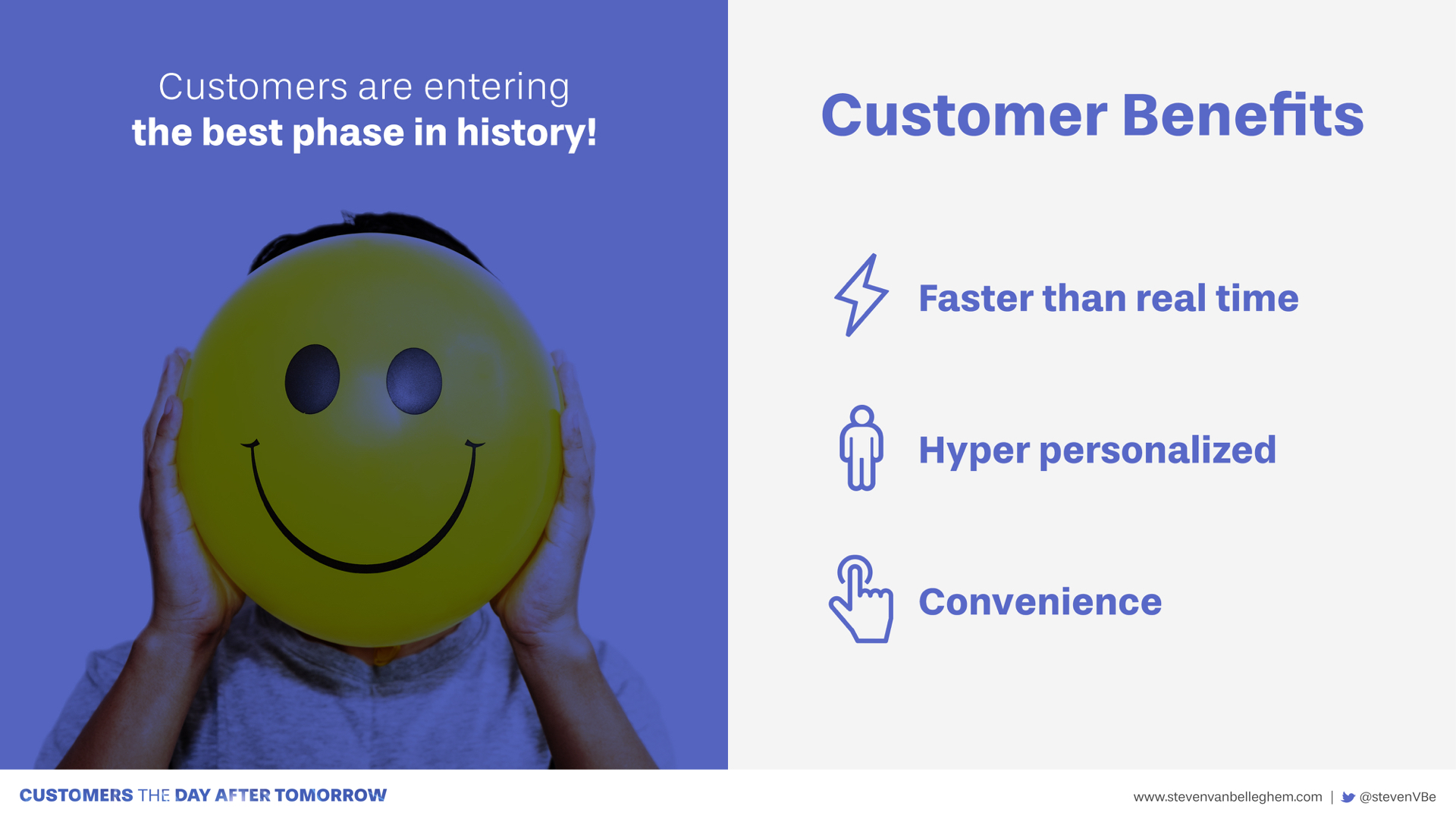 Three clear customer benefits in a world of artificial